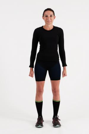 4.0 Women's MID Compression Shorts (Short Length-Booty) Inseam Measurements Below Under Tech Specs