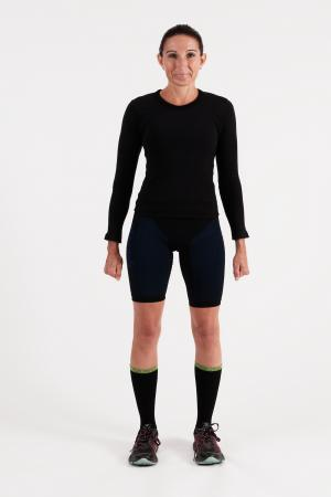 4.0 Women's MID Compression Shorts Midi (Mid Length) Inseam Measurements Below Under Tech Specs