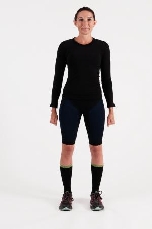 4.0 Women's MID Compression Shorts 3/4 (Long Length) Inseam Measurements Below Under Tech Specs