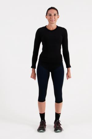 4.0 Women's MID Compression Tights Knee-Inseam Measurements Below Under Tech Specs