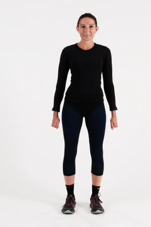 4.0 Women's MID Compression Tights 3/4-Inseam Measurements Below Under Tech Specs