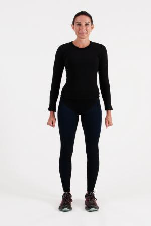4.0 Women's MID Compression Tights Long-Inseam Measurements Below Under Tech Specs