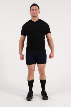 4.0 Men's MID Compression Shorts (Short Length-Booty) Inseam Measurements Below Under Tech Specs
