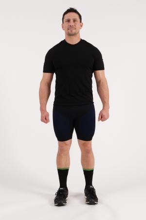 4.0 Men's MID Compression Shorts Midi (Mid Length) Inseam Measurements Below Under Tech Specs