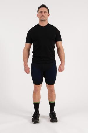 4.0 Men's MID Compression Shorts 3/4 (Long Length) Inseam Measurements Below Under Tech Specs