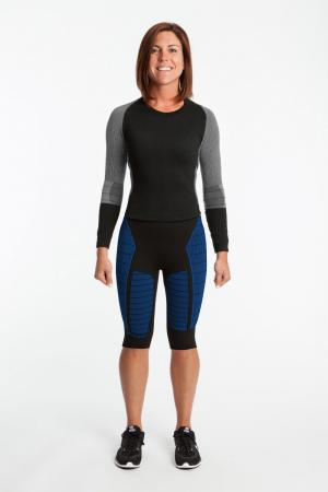 4.0 Women's MAX Compression Tights Knee (Mid Rise Waist) Inseam Measurements Below Under Tech Specs