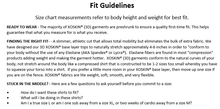 Fit Guidelines