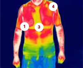 Winter front heat map.